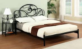 bedroom perfect combination of black metal bed frame and