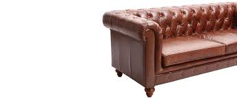 canape chesterfield vintage canapé cuir vintage 3 places chesterfield miliboo