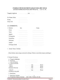 contoh format askep maternitas format pengkajian pada ibu nifas fix