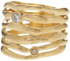 rivka friedman rings rivka friedman 18k gold clad interlocking cz satin ring everystore