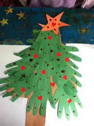 preschool crafts for kids handprint christmas tree craft made