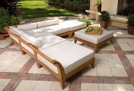 Wooden Outdoor Daybed Furniture by Amazing Of Teak Sectional Outdoor Furniture Ramled A Grade Teak