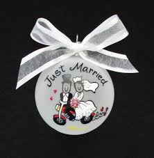 just married personalized ornament wedding gift christmas