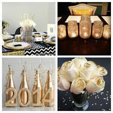 New Years Eve Table Decorations Ideas by Black White U0026 Gold New Year U0027s Eve Party Ideas Windy City