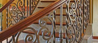 Wrought Iron Banister Iron Stair Railings Articles First Impression Security Doors