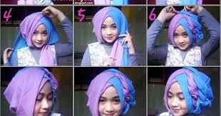 tutorial jilbab segi 4 untuk kebaya tutorial hijab segi empat 2 warna untuk wisuda dan lebaran jilbab