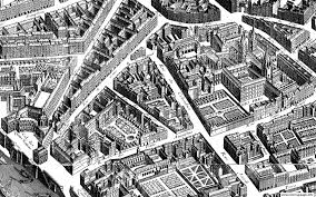 city map paris neighborhood 1739 coloring pages printable