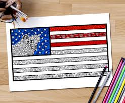 american flag coloring page coloring page zentangle usa