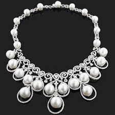 diamond pearl necklace images Diamond pearl necklaces ladies women 39 s diamond pearl necklaces at jpg