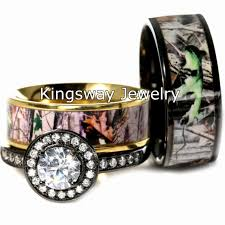 camo wedding rings his and hers his and matching camo wedding ring sets