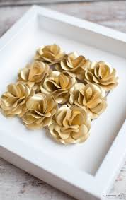 Make Your Own Paper Flowers - gold mini paper rose pattern lia griffith