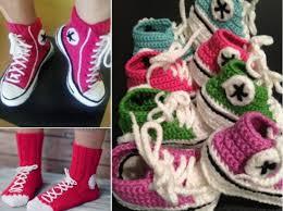 pattern crochet converse slippers crochet converse slippers free pattern video crocheted slippers