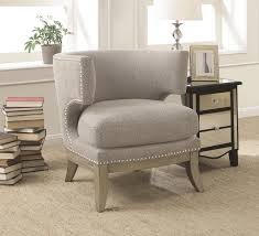 Barrel Accent Chair Coaster 902560 Barrel Back Accent Chair With Grey Chenille Upholstery