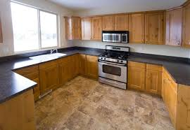 Best Laminate Flooring For Kitchen Interior Tile Laminate Floors In Kitchen With Wooden Wall Cabinet
