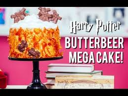 how to make a harry potter butterbeer mega cake caramel cobwebs