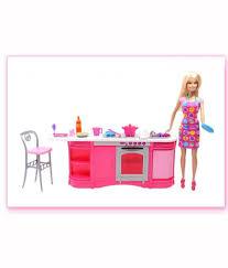 mattel barbie cooking fun kitchen doll buy mattel barbie cooking