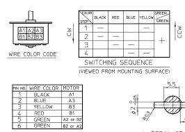 digital logic drive 6 wire 2 center tap stepper with stepper