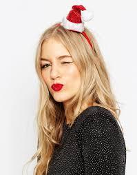 image 1 of asos christmas santa hat headband christmas town