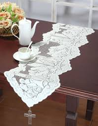 decor black floral lace table runners for wedding decoration ideas