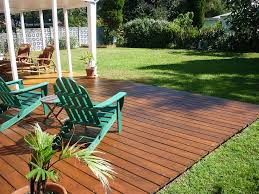 here u0027s a gorgeous backyard ground level deck landscape