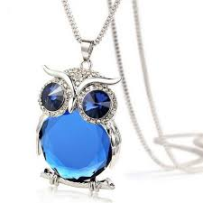 owl necklace pendants images Crystal rhinestone owl pendant necklace my niche deals jpeg