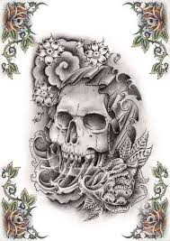 skull tattoos grim reaper tattoos deer sugar bull skull