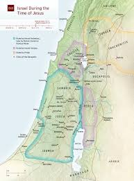 Jordan River Map Map Israel In Jesus U0027 Time Nwt