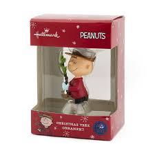 amazon com hallmark peanuts charlie brown with tree christmas