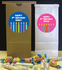 Birthday Favor Bags by Birthday Candles Theme Favor Bags