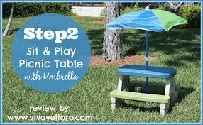 step 2 folding picnic table step2 sit and play picnic table with umbrella review viva veltoro