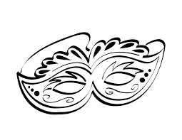 simple mardi gras mask african mask coloring page butterfly mask