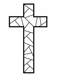 free printable cross coloring pages and outline page omeletta me
