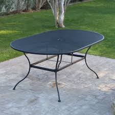 Iron Patio Table With Umbrella Hole by Patio Furniture Wrought Iron Patio Tables And Chairs Table Parts