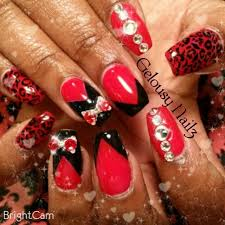 the 25 best red cheetah nails ideas on pinterest red nail