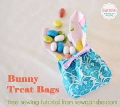 treat bags bunny treat bags a free sewing tutorial sewcanshe free