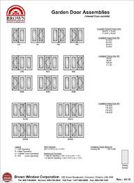 Awning Sizes Garage Door Frame Size Chart From Brown Window Corporation
