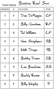 baseball lineup card template i love wallpapers