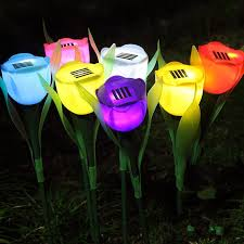 Solar Lighting For Gardens by Discount Led Tulip Solar Light Tulip Lamps Outdoor Solar Lamps