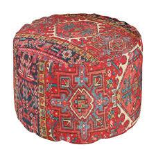 antique oriental turkish or persian carpet print pouf zazzle com