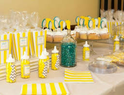yellow and gray baby shower decorations baby boy grey and yellow onesies and ties baby shower boy oh