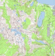 Table Rock Lake Map Topo Map South Desolation Wilderness