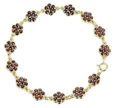 garnet bracelet images Victorian flowers bohemian garnet bracelet in sterling silver with jpg