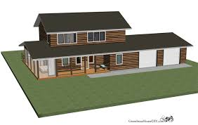 Building A Two Car Garage Free House Plan Rustic Modern Country Home With A 2 Car Garage