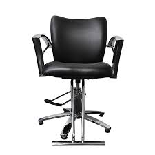 Office Chair Front Png Black 3142 Plain Black Chrome Armrest Star Base Mrc Beauty Inc