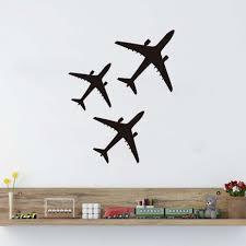 online shop free shipping cute airplane plane wall sticker vinyl