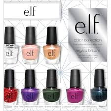 e l f cosmetics color collection nail polish set 9 pc walmart com