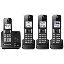 panasonic 4 handset dect cordless phone with answering machine