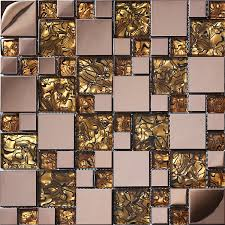 Online Get Cheap Gold Kitchen by Rose Gold Gold Stainless Steel Metal Glass Mosaic Tile Kitchen