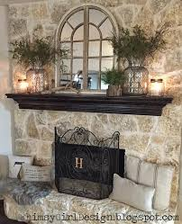 Country Fireplace Screens by Whimsy Our Home Nature Inspired Spring Mantle House