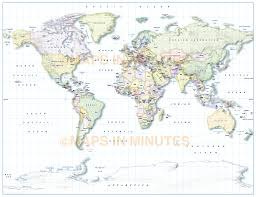 World Map Alaska by Digital Vector Map Gall Projection Political World With Insets
